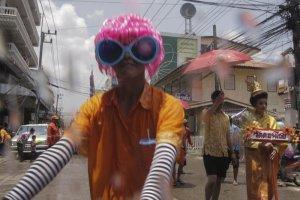 Songkran/Thingyan on the Thai Burma border 2014