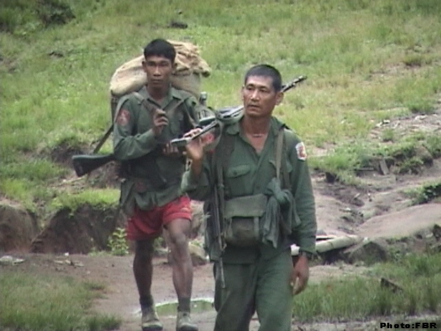 Burma army soldiers