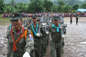 KNLA soldiers on parade