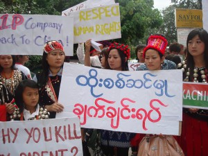 Burma ethnic nationalities demostration in Malaysia