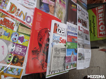 newspapers and journals inside Burma(Photo-Mizzima)
