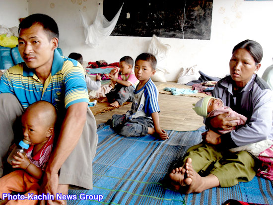 Photo of 70,000 Kachin refugees in desperate need