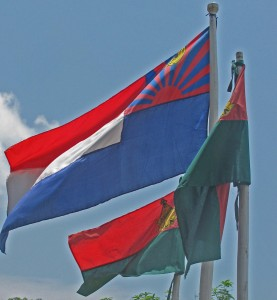 Flags of KNU and KNLA