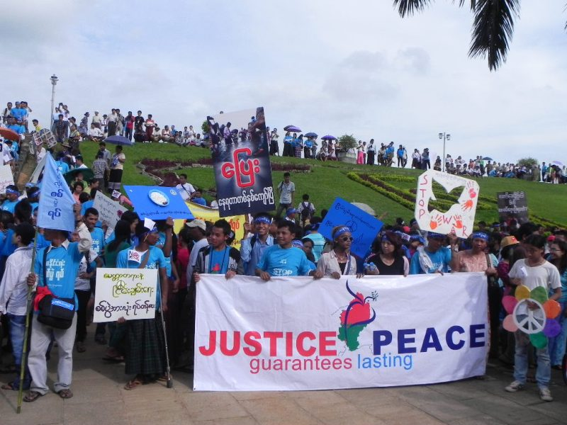 Photo of Peace Day protesters prepared to test the law