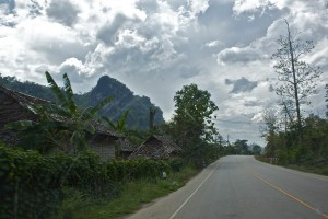 The car road by Mae La Refugee camp