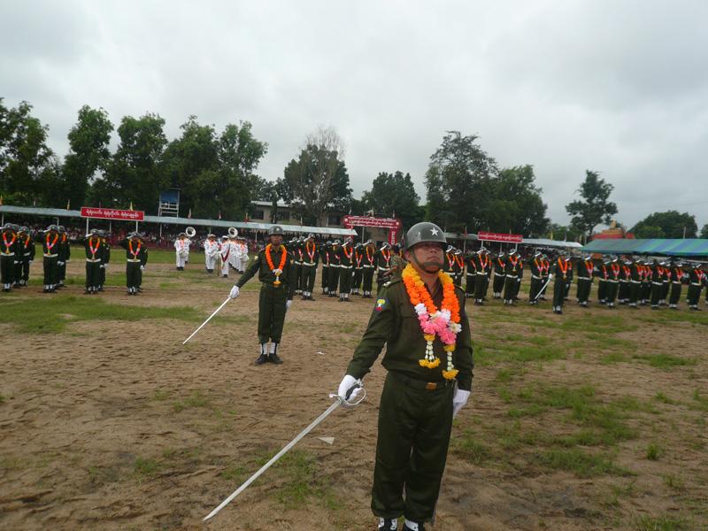 Photo of Government's militia forcing civilians into uniform