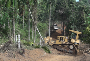 Logistic road being built for new Kawkareik-Myawaddy road (Photo-KIC)