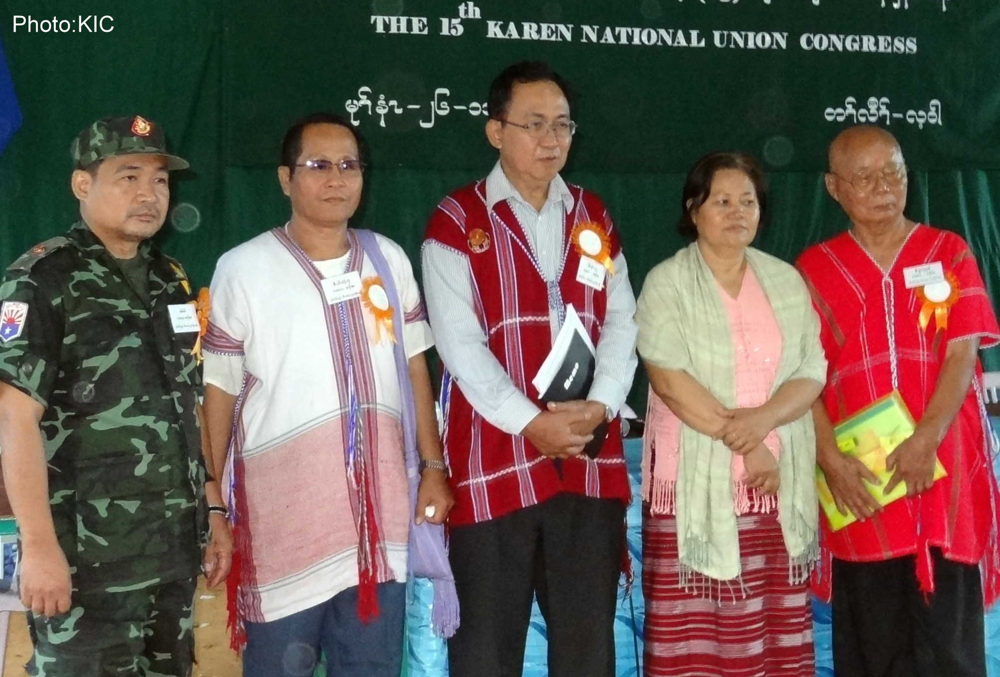Photo of KNU delegates vote-in five new leaders