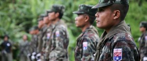 KNLA soldiers from 4th Brigade on parade during a Martyrs' Day (Photo-Karen News)
