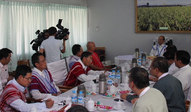 "Photo of Burma President Warns – ""No Secession And No Harm To Sovereignty"""