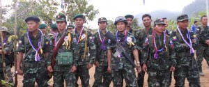 BGF troops at Karen revolution day