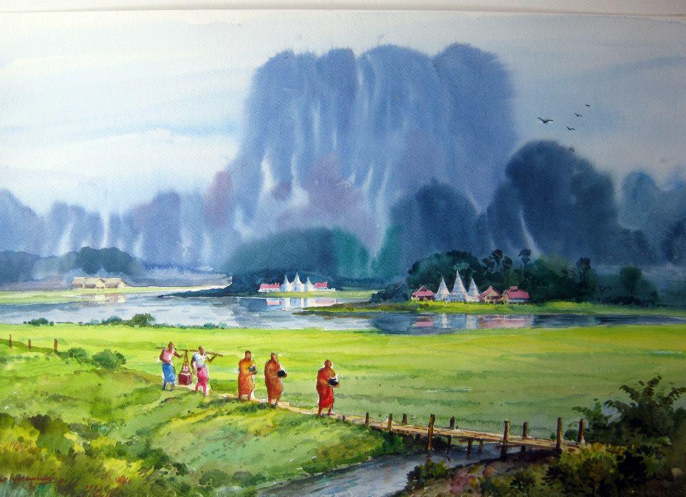 Karen artists draw crowds to Rangoon exhibition