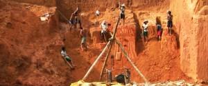 A gold mining site in Dawei area