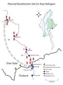 Planned ressttlement site (Map-SHRF)