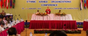 Previous ethnic armed organizations conference, Law Khee Lar, Karen State January 2014