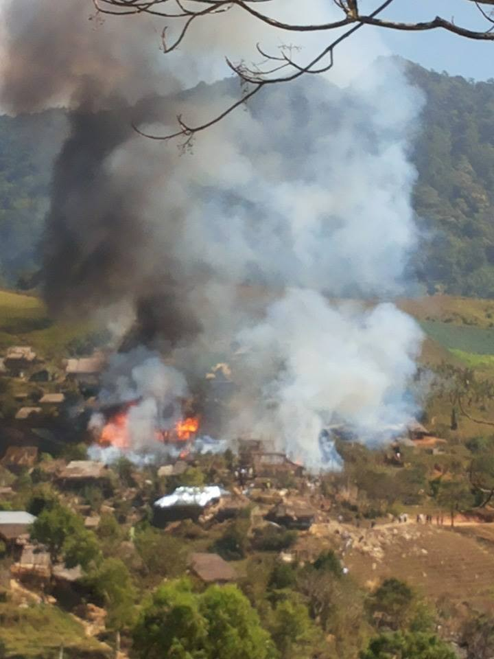 Photo of Fire reported at Umpiem Refugee Camp
