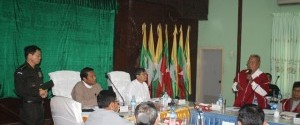 KNU meeting with village head on census