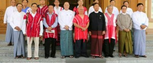 KNU and Government delegation group photo