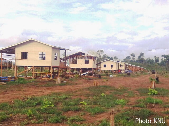 Photo of KNU Housing For Families of Disabled Soldiers and Some Displaced Villagers Almost Completed