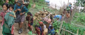Displaced Karen villagers