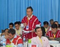 Padoh Kwe Htoo Win, KNU's General Secretary speaking at Nationwide Ceasefire Coordination Team Members' Summit July 2014 (Photo-KNU)