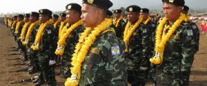DKBA troop on parade at Karen New Year and DKBA day ceremony