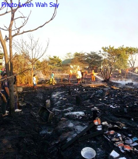 Photo of Fire Destroys Four Migrant School Boarding Houses – Mae Sot Authorities Investigating Cause