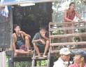 Villager flee