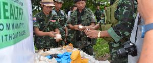 KNU destroy drug