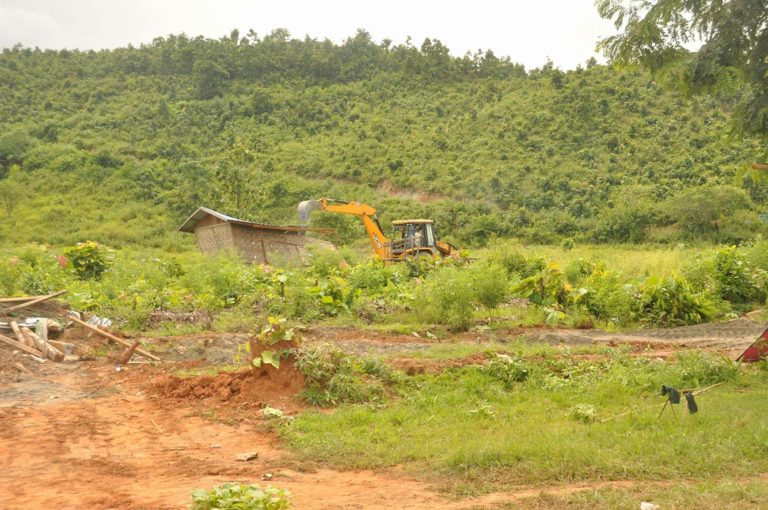 Photo of Burmese Government Bulldoze Village in Chin State