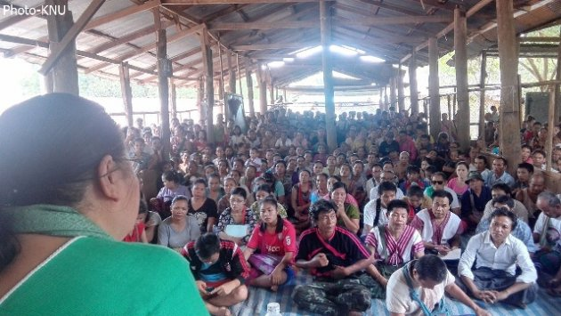 Photo of KNU Vice Chair Tours Refugee Camps to Brief Refugees on its Peace Process