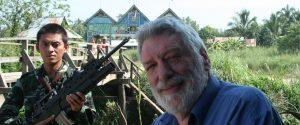 Professor Desmond Ball seen on the Thai-Burma border (Photo-Phil Thornton)
