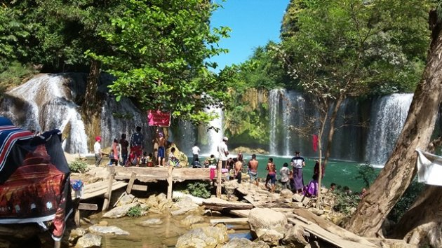 Photo of Landmine Kills Three Burma Army and BGF Militia Soldiers Near Karen State's Famous Tourist Spot, the Kyone Htaw Waterfall