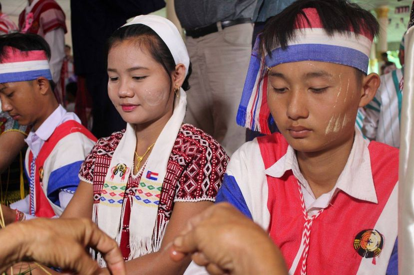 Photo of Karen Wrist tying Ceremony Celebrated in Kawkareik Township