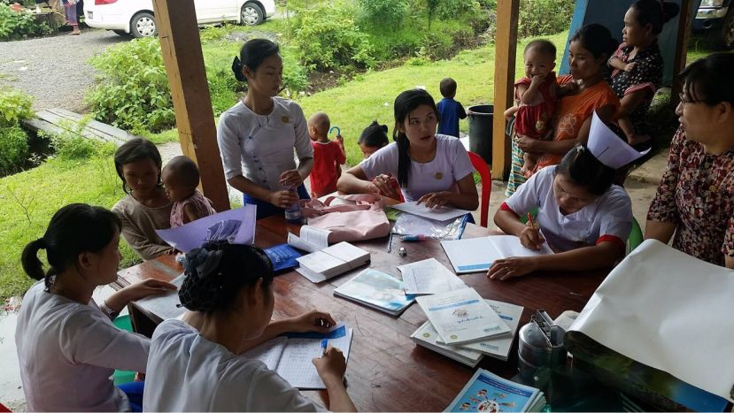 Photo of Vaccination Drive Limited by Uncooperative Parents at Myaing Gyi Ngu IDP camp