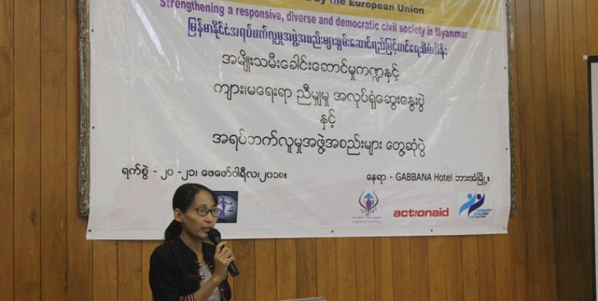 Photo of Workshop Held in Hpa-an to Boost Networking among CSOs