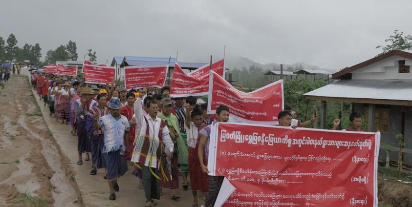 Photo of Hundreds of Mae-ka-ne Residents Demand Return of Seized Lands