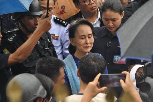 Photo of State Counsellor's Peace Talk in Hpa-an Postponed Indefinitely, Visited Flood Victims Instead