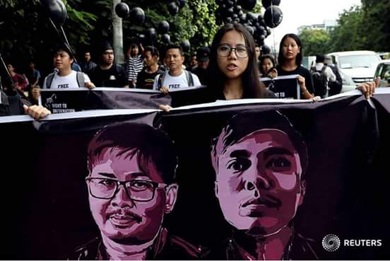 Photo of BURMA COURTS: Press Freedom Hammered – Reuters Journalists, Wa Lone and Kyaw Soe Oo, Jailed for Seven Years