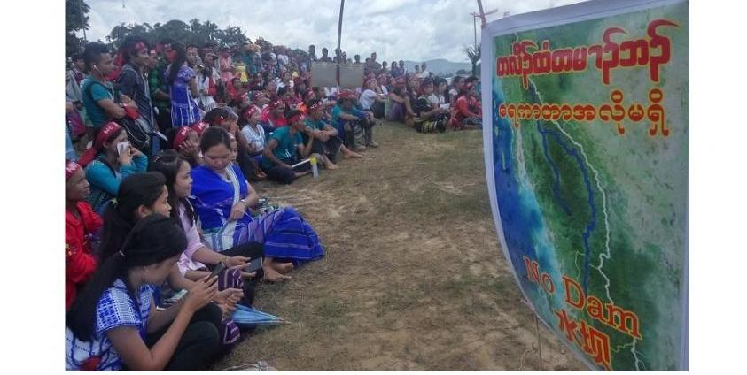 Photo of Indigenous People from Tanintharyi Region Campaign Against Dams