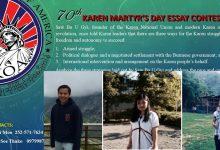 Photo of Karen Organization of America Names Essay Winners
