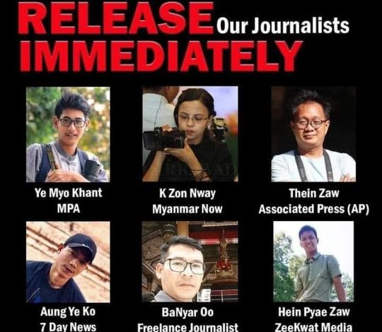 Photo of Journalists Arrested, Independent Media Shut Down in Myanmar